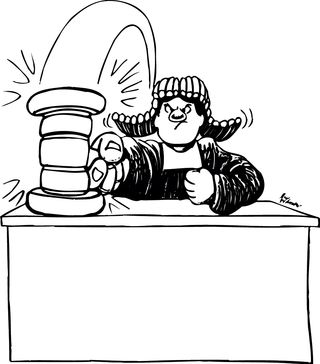 Judge and gavel (purchased 8-10-15)